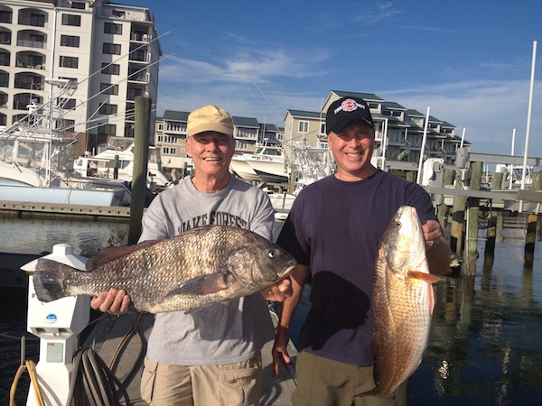 Deep sea fishing, Bob and son Greg